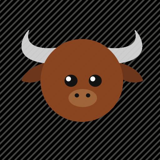 animal, icon, ox icon