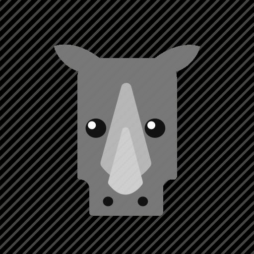 animal, icon, rhino icon