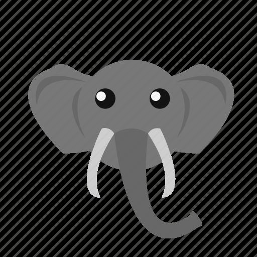 animal, elephant, icon icon