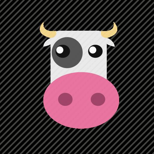 animal, cow, icon icon