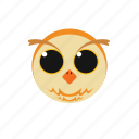 animal, icon, owl icon