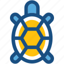 amphibian, animal, reptile, tortoise, turtle icon