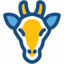 animal, antelope, goat, goat head, mammal icon