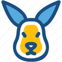 animal, kangaroo, kangaroo joey, orycteropus afer, wallaroo icon