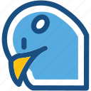 bird, columbidae, dove, pigeon, pigeon face icon