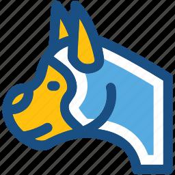 animal, cur, dog, dog face, foxhound icon