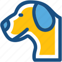 animal, cur, dog, dog face, foxhound icon