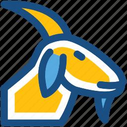 animal, antelope, goat, goat head, mammal icon