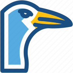 bird, gulls, seabirds, seagull, stork icon