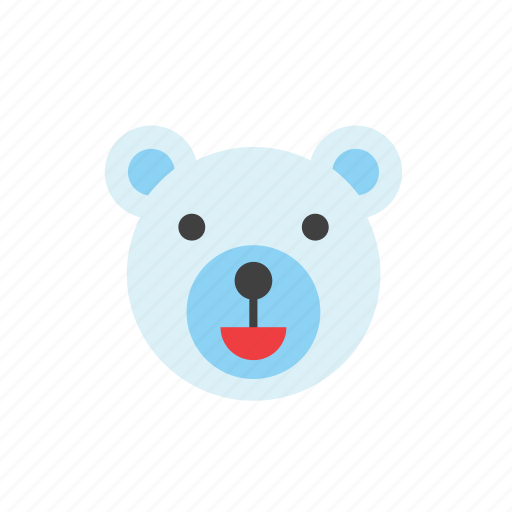 animal, bear, polar, white icon