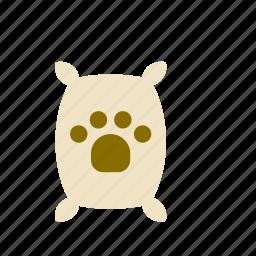 animal, bag, dog, food, footprint, sack, track icon