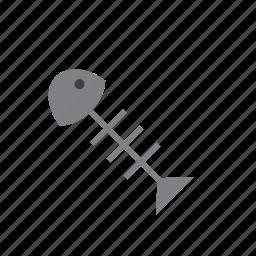 animal, bone, fish, fishbone, thorn, thorns icon