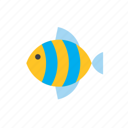 animal, fish, striped icon