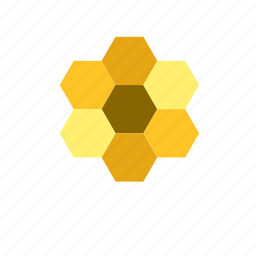 animal, bee, beehive, hexagon, pattern icon
