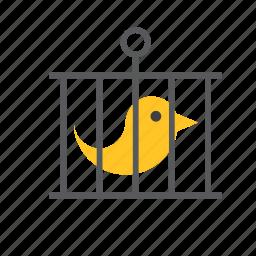 animal, bird, cage icon