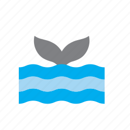 animal, sea, tail, whale icon