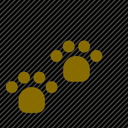 animal, dog, footprint, pet, track icon