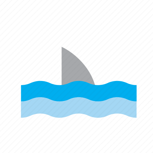 animal, fin, flipper, sea, shark, water icon