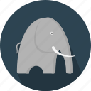 african, animal, creature, elephant, forest, large, mammal icon
