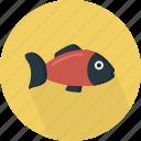 animal, aquatic, fish, gill-bearing, sea, seafood, swim icon