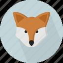 animal, bushy, fox, hunt, mammal, omnivorous, wilderness icon