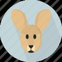 australia, endemic, jump, kangaroo, large foot, marsupial, native icon