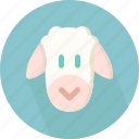 baa, bleat, dairy, domestic, quadrupedal, ruminant, sheep icon