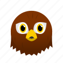 animal, bird, brown, eagle, face, wild icon