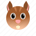 animal, squirrel, wild icon