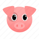 animal, farm, pig, pink, pork icon
