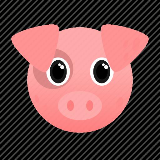 animal, farm, pig, pink, pork icon