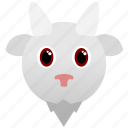 animal, face, goat, wild, zoo icon