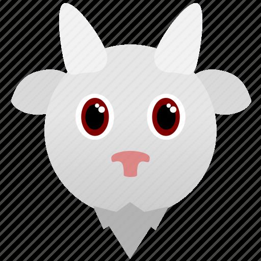 animal, face, goat, wild, zoo icon