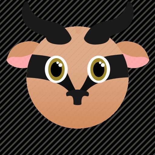 Wild, face, africa, animal, gazelle icon