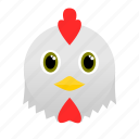 animal, chicken, egg, face, farm, rooster icon