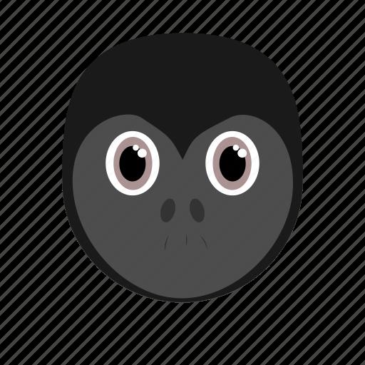 animal, big, dark, face, gorilla, wild, zoo icon