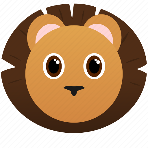 Animal, face, king, lion, wild icon - Download on Iconfinder
