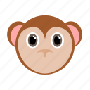 animal, face, monkey, wild, zoo icon