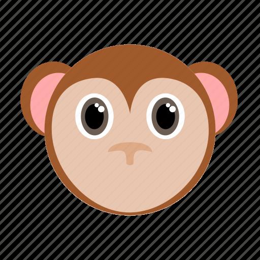 animal, face, monkey, wild, zoo icon