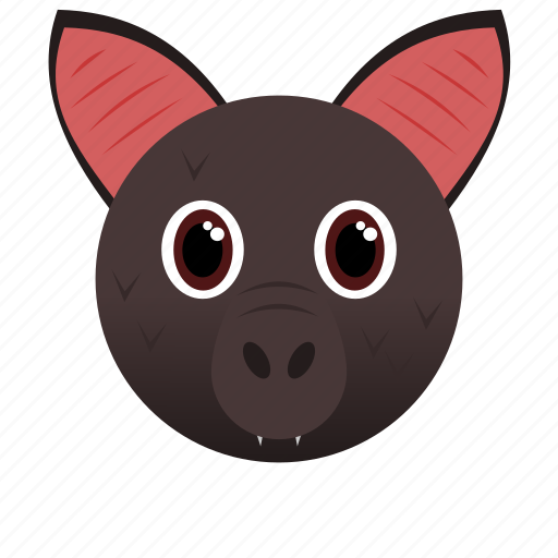 animal, bat, brown, cave, gray, wild icon