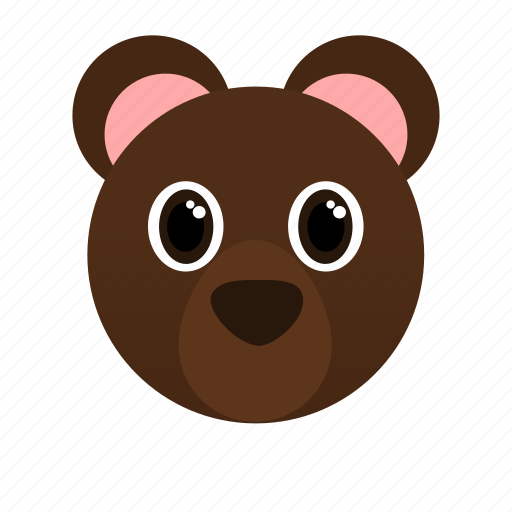 animal, bear, big, brown icon
