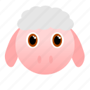 animal, face, farm, sheep, wool icon