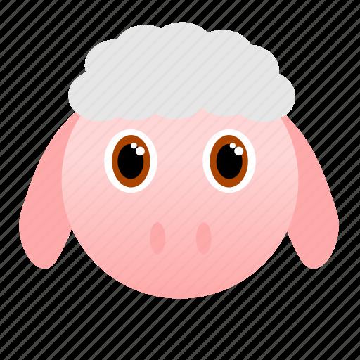 animal, face, farm, sheep, wool icon