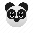 animal, bear, face, panda, wild, zoo icon