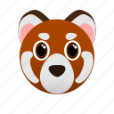 animal, face, red panda, wild, zoo icon