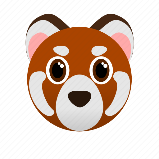 Animal, face, red panda, wild, zoo icon - Download on Iconfinder