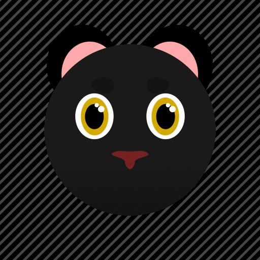 animal, dark, face, panther, wild, zoo icon
