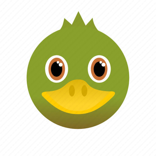 Animal, duck, face, green, wild icon - Download on Iconfinder