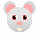 animal, face, mouse, pet, rat icon