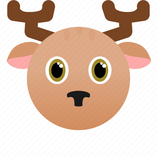 Animal, deer, face, wild, xmas icon - Download on Iconfinder